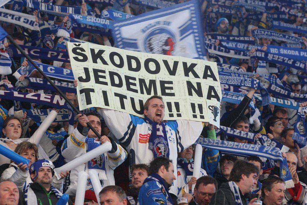 Finále play-off, 3. zápas Plzeň - PSG Zlín.