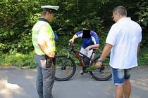 Cyklista s více než čtyřmi promile ujel 22 kilometrů.