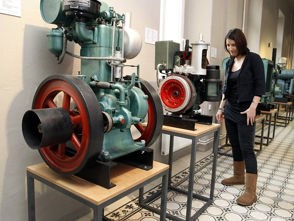 Stálá expozice Historie firmy Slávia vmuzeu Napajedlích.