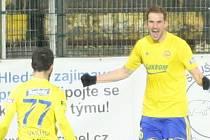 Tomáš Poznar se raduje z gólu. Ilustrační foto