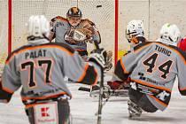 Sledge hokejisté Zlína (v šedém). Ilustrační foto