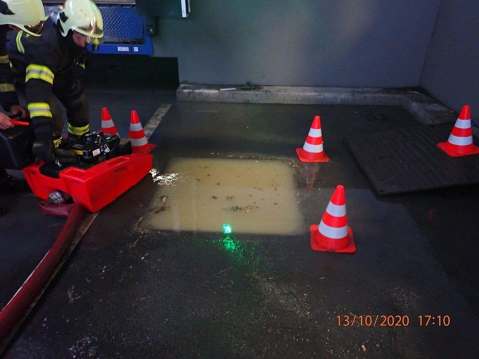 Vytrvalý déšť ve Zlínském kraji.