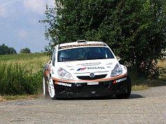 Andreas Mikkelsen otestoval svůj vůz před Barum Czech Rally Zlín.