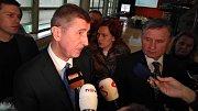 Premiér Andrej Babiš na krajském úřadě ve Zlíně