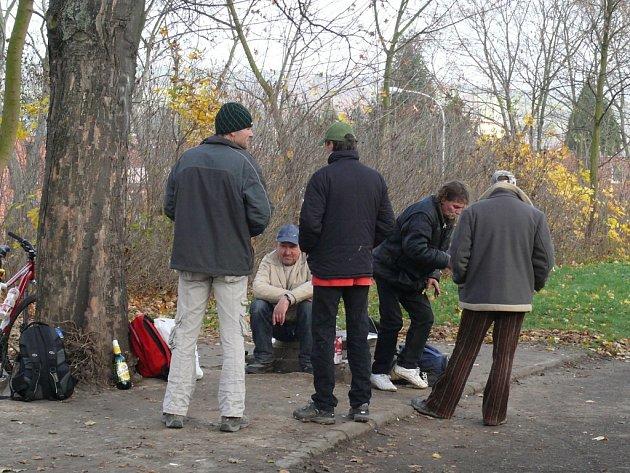 Bezdomovci u Věžových domů