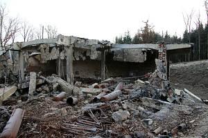 Zásah v bývalých muničních skladech ve Vrběticích.