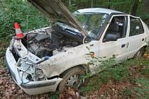 Devatenáctiletý řidič vozidla Škoda Felicia havaroval v sobotu mezi obcemi Svatý Štěpán a Štítná nad Vláří.