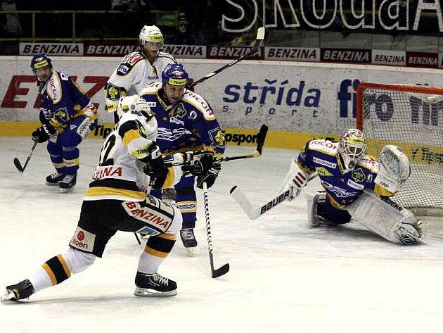 Hokejisté HC BENZINA Litvínov hostili na svém ledě hokejisty PSG Zlín.