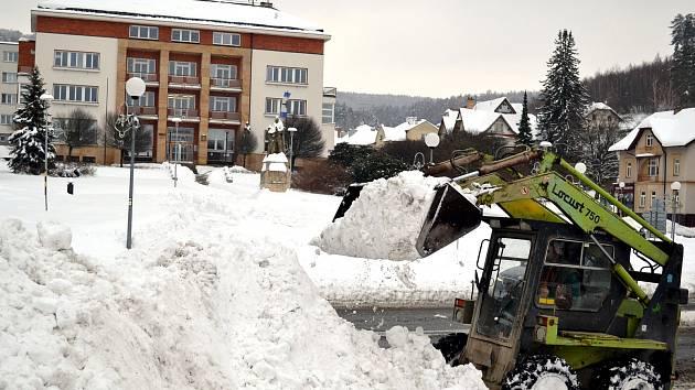 Rekordní sněhové srážky na Luhačovicku.