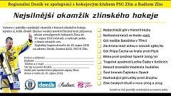 Hlasujte o nejsilnější okamžik v historii hokejového klubu PSG Zlín