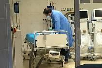 Oddělení ARIM - Oddělení anesteziologie, resuscitace a intenzivní medicíny KNTB. Ilustrační foto