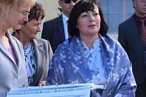 Manželka prezidenta republiky Ivana Zemanová při návštěvě Zlínského kraje.