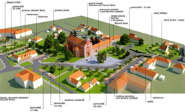 Obyvatelé Štípy se mohou těšít na krásnější náměstí. Musí ovšem vydržet několikaměsíční práce.