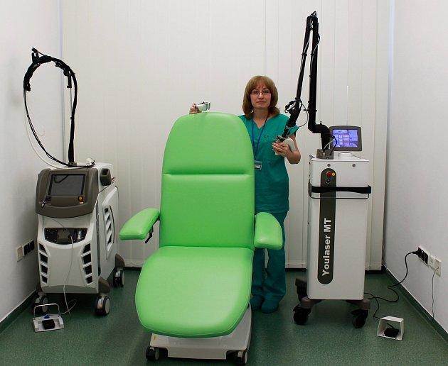 O nové lasery je v nemocnici velký zájem.