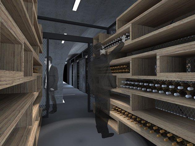 Protiatomový kryt Hradská ve Zlíně. Vizualizace budoucího Wine resortu Hradská