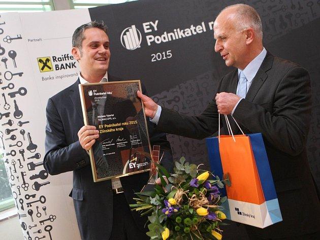 Slavnostní vyhlášení podnikatele roku 2015 Zlínského kraje v budově krajského úřadu ve Zlíně.