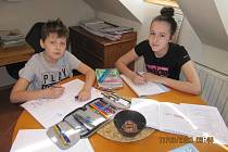 Děti se doma nejen učí, ale také pomáhají.