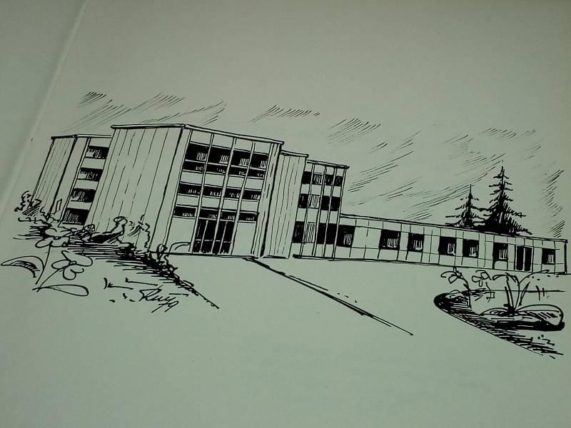 NA PAPÍŘE. Kresba budovy.