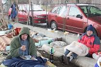 Lidé bez domova ve Zlíně prospali Vánoce třeba pod mostem
