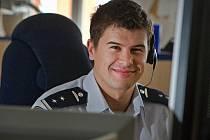 Jakub Juránek, operátor zlínských hasičů. Ilustrační foto