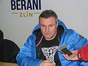 Trenér Martin Hamrlík na tiskovce po zápase.