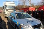Poslední kamion s municí opustil areál ve Vrběticích.