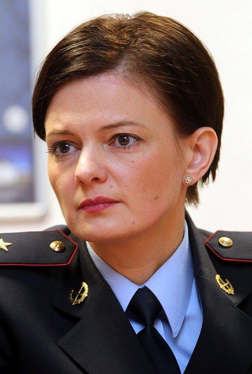 Tisková konference policie ČR ve Zlíně.Lenka Javorková