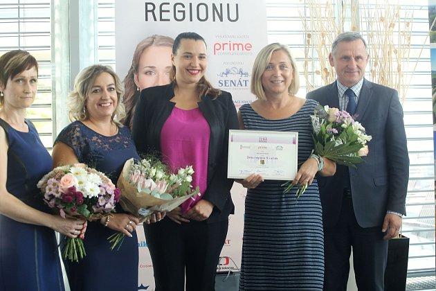 Vyhlášení soutěže žena regionu 2018 na krajském úřadě ve Zlíně. Marcela Bradová