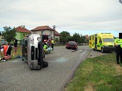 Dopravní nehoda u Fryštáku.