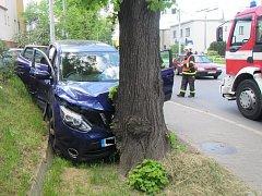 Nehoda ve Štefáníkově ulici ve Zlíně