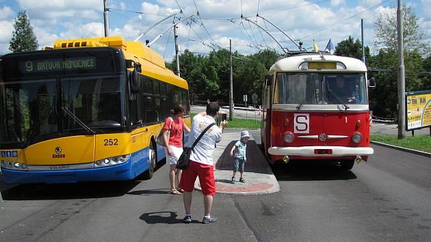 Povozit se historickým trolejbusem Škoda  9Tr budou mít v sobotu 11. září možnost lidé ze Zlína.