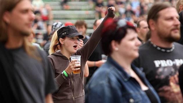 Fanoušci festivalu