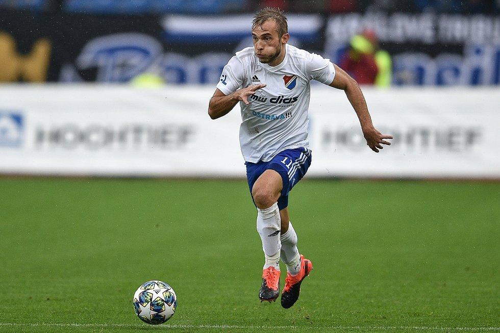 Utkání 12. kola první fotbalové ligy: Baník Ostrava - Fastav Zlín, 5. října 2019 v Ostravě. Na snímku Nemanja Kuzmanovič.
