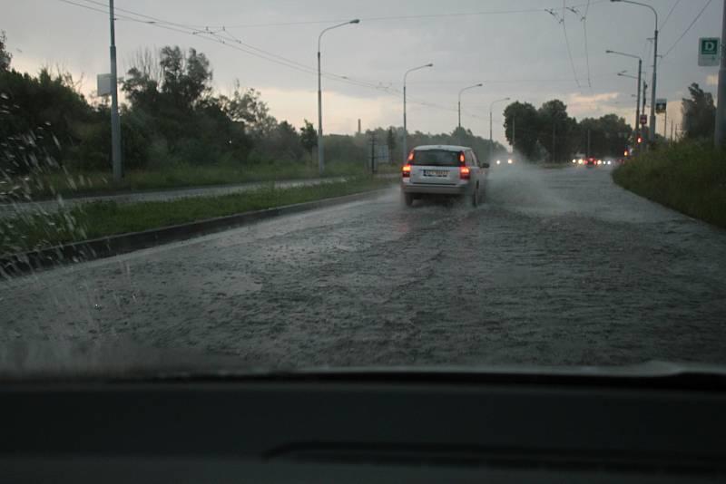 Otrokovice, přívalový déšť 13.6.2020