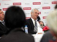 Návštěva prezidenta  ČR Miloše Zemana v Tescomě.