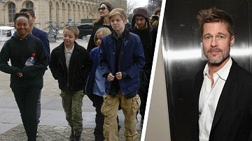 Angelina Jolie s dětmi na výletě v Paříži.