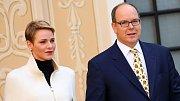 Kníže Albert a jeho žena Charlene