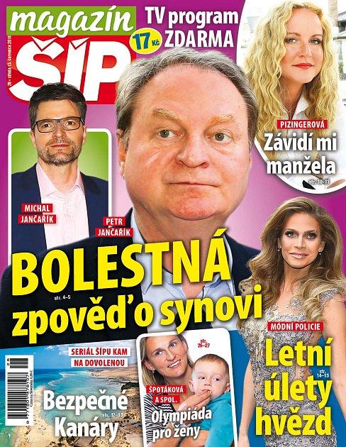 Titulní strana Magazínu Šíp 13.7.2016