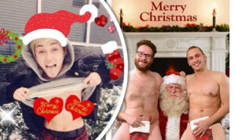 Vánoční pohlednice celebrit