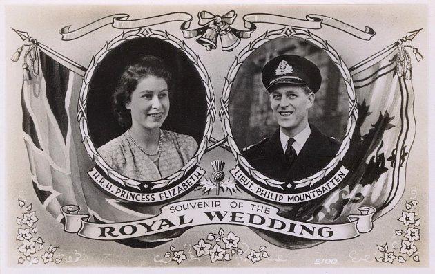 Královna Alžběta a princ Philip: Výročí svatby / Pohlednice