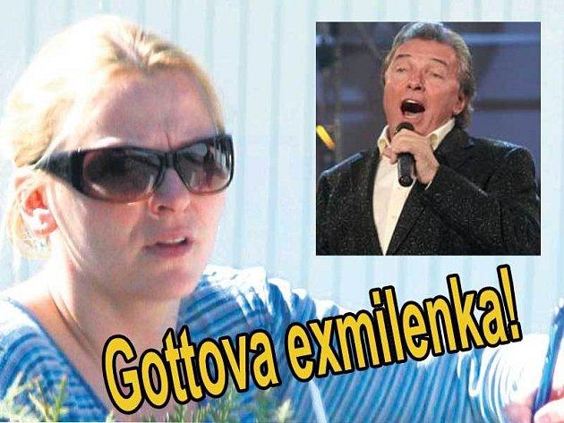 Marika Sörösová dnes. Ve výřezu Karel Gott.