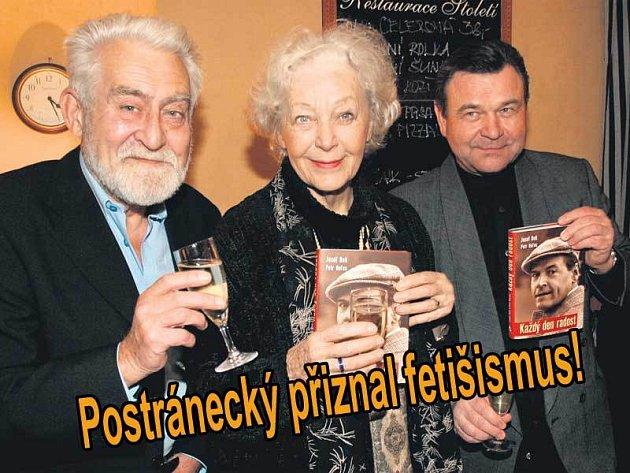 Knihu o Josefu Bekovi pokřtili Ilja Racek, Květa Fialová a Václav Postránecký.