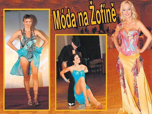 Zleva: Jitka Kocurová předvedla své krásné nohy. Bočanová s Kunešem zářili na parketu. Moderátorka Zuzana Belohorcová měla nejkrásnější šaty, které byly od návrháře Josefa Klíra.