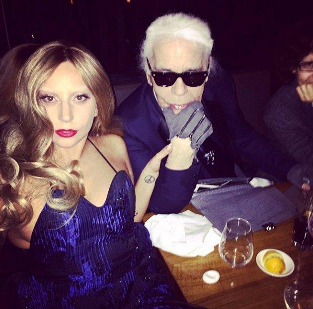 Karl Lagerfeld a Lady Gaga