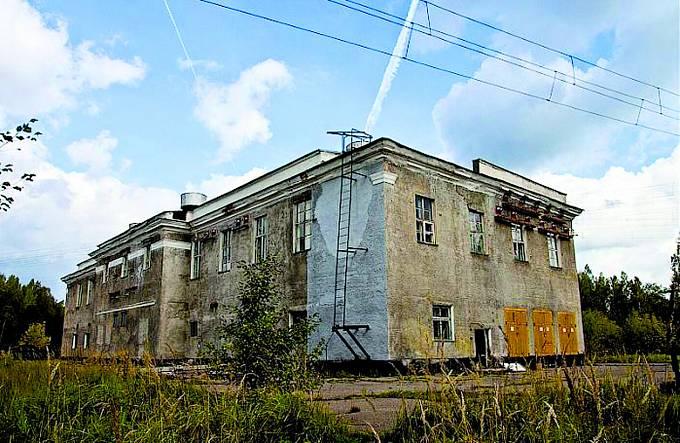 Opuštěná vojenská základna uměsta Povarovo.
