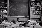 Einsteinův stůl. Foceno pár hodin po jeho smrti.