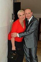 Kateřina Kornová s kamarádem Davidem Novotným.