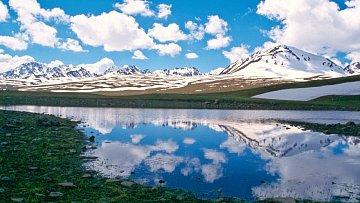 Typický obrázek Kyrgyzstánu
