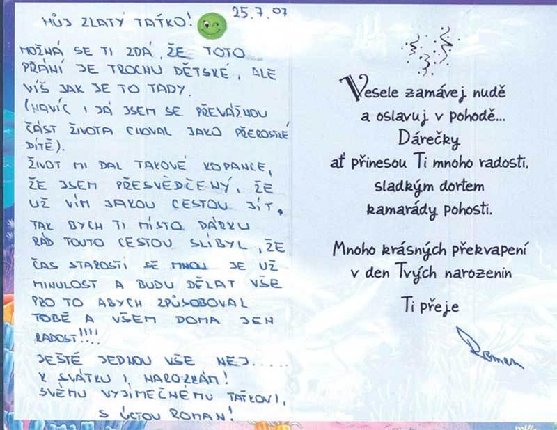 přání k narozeninám pro otce OTEC: Syn měl zůstat ve vězení!   Šíp přání k narozeninám pro otce