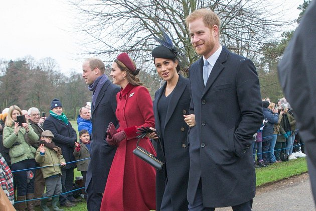 Princ William, Kate Middleton, Meghan Markle a princ Harry